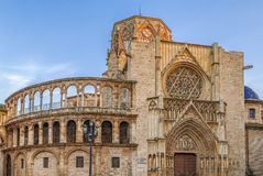 Valencia Cathedral, Spain. Valencia Cathedral or Basilica of the Assumption of Our Lady of Valencia, Spain Stock Photos