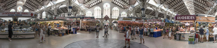 Valencia Central Market arkivfoto