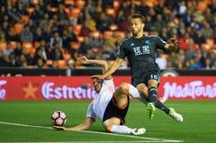 Valencia CF contro la Real Sociedad - La Liga Immagine Stock
