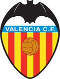 Valencia CF Logo espana football Stock Images