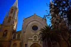 Valencia,church,Basilica of San Vicente Ferrer, religion. Basilica of San Vicente Ferrer, Gothic style from 1924 in Valencia Royalty Free Stock Photo