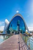 Valencia - città delle arti e delle scienze Immagini Stock