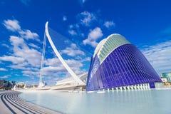 Valencia - città delle arti e delle scienze Immagine Stock