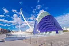 Valencia - città delle arti e delle scienze Immagine Stock Libera da Diritti