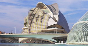 Valencia city of art opera house construction 4k spain. Valencia city of art opera house building construction 4k spain stock footage