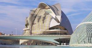 Valencia city of art opera house construction 4k spain stock footage