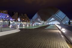 Valencia City of Arts and Sciences at night Royalty Free Stock Image