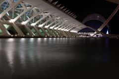 Valencia City of Arts and Sciences night shot Royalty Free Stock Photography