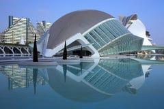 Valencia - City of Arts & Sciences - Spain. The futuristic architecture of the Ciutat de les Arts i de les Ciencies (City of Arts & Sciences) the the city of Stock Images