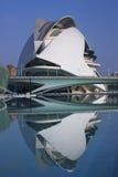 Valencia - City of Arts & Sciences - Spain. The futuristic architecture in the Palau de les Arts building in the Ciutat de les Arts i de les Ciencies (City of stock photo