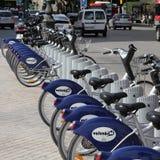 Valencia city bikes Royalty Free Stock Photography