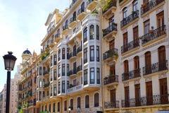 Valencia city downtown Castello street Royalty Free Stock Photography