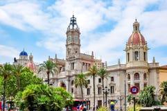 Valencia City Hall Ayuntamiento, Spain royalty free stock photos