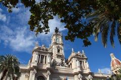 Valencia City Hall Royalty Free Stock Photos