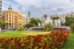 Valencia City Hall Square Royalty Free Stock Image