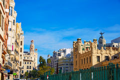 Valencia city railway station from Bailen st Spain Royalty Free Stock Image