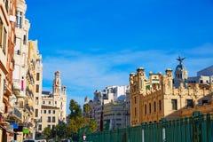 Valencia city railway station from Bailen st Spain Royalty Free Stock Image