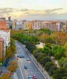 Valencia city road traffic, Spain royalty free stock photography