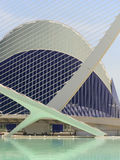 Valencia city of science and art: Futuristic buildings with its reflection in water 03 Royalty Free Stock Photo