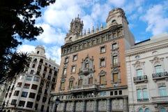 Valencia city, spain. View of city center of valencia, spain royalty free stock image