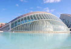 Valencia city, spain. View of city of arts and science in valencia, spain 2011 royalty free stock image