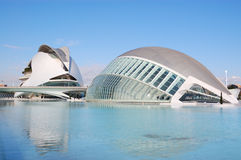 Valencia city, spain. View of city of arts and science in valencia, spain 2011 stock images