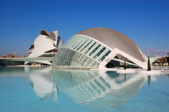 Valencia city, spain. View of city of arts and science in valencia, spain 2011 royalty free stock images