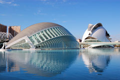 Valencia city, spain. View of city of arts and science in valencia, spain 2011 royalty free stock photo