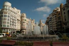 Valencia. City of Valencia Spain fountain and palace Stock Images