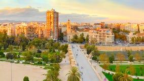 Valencia cityscape, Spain royalty free stock photos