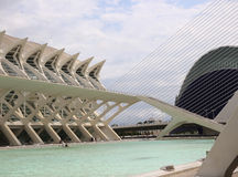 Valencia Ciudad de las Artes y las Ciencias Royalty Free Stock Photo