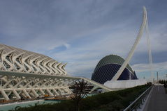 Valencia Ciudad de las Artes y las Ciencias - Museo de las Ciencias Principe Felipe Stock Image