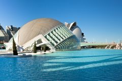 Valencia complex City of Arts and Sciences Royalty Free Stock Photos