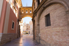 Valencia corridor arch Cathedral and Basilica Spain Royalty Free Stock Image