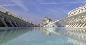 Valencia day light city of art outside pond panoramic view 4k spain stock video