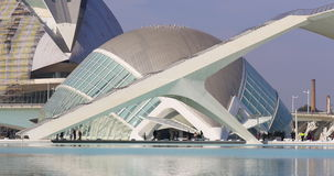 Valencia day sun light science museum city of art 4k spain stock video