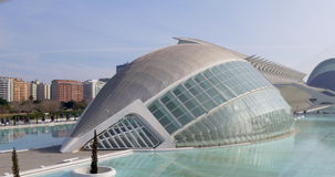 Valencia day time sun light science museum principe felipe 4k spain stock video footage