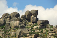Valencia de Alcantara granite rock landscape Royalty Free Stock Images