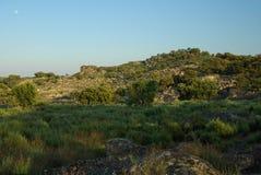 Valencia de Alcantara granite rock landscape Stock Image