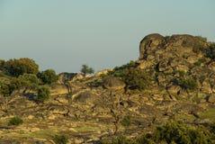 Valencia de Alcantara granite rock landscape Stock Images