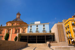 Valencia downtown cathedral and basilica Spain Stock Images
