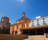 Valencia downtown cathedral and basilica Spain Royalty Free Stock Images