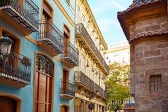 Valencia Downtown cerca de la calle de Sant Vicent Imágenes de archivo libres de regalías