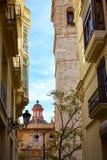 Valencia Downtown cerca de la calle de Sant Vicent Imagen de archivo libre de regalías