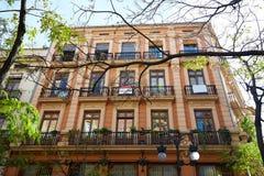 Valencia Downtown near Ayuntamiento square Royalty Free Stock Photography