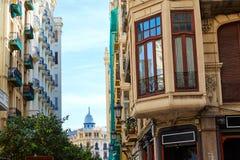 Valencia Downtown near Ayuntamiento square Royalty Free Stock Photo