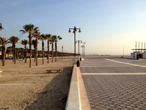 Valencia embankment and beach Royalty Free Stock Images