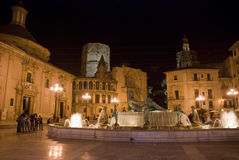 Valencia en la noche Imágenes de archivo libres de regalías