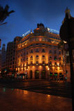 Valencia en la noche Fotos de archivo