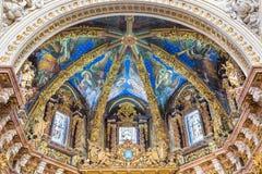 Valencia, España 2 de diciembre de 2016: Catedral-basílica de la suposición de nuestra señora de Valencia foto de archivo libre de regalías